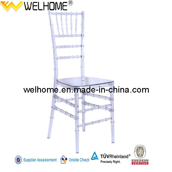 Clear Resin Chiavari Chair for Party, Wedding, Event