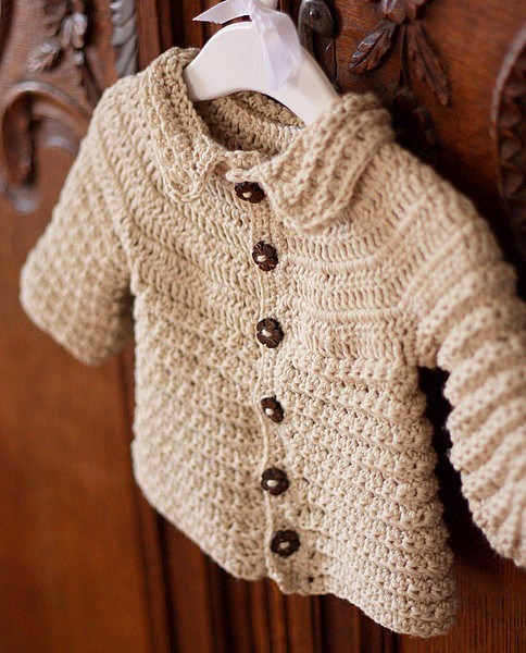 Woolen Crochet : China Merino Wool Crochet Baby Cardigan - China Cardigan, Sweater