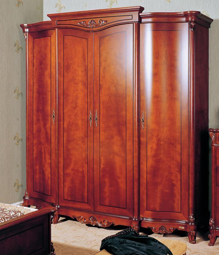 China solid wood bedroom cabinets garderobe wooden