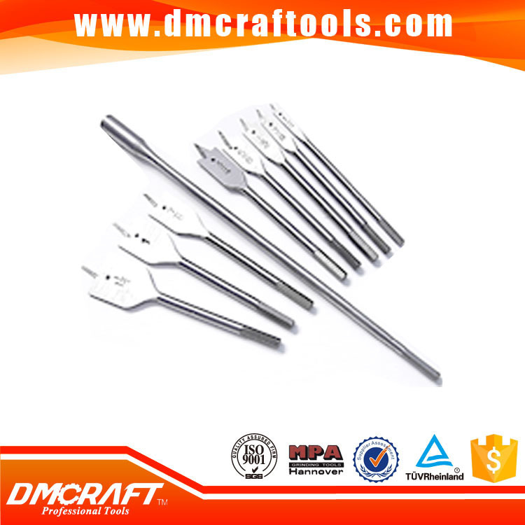 Bright Finish Wood Flat Drill Bits