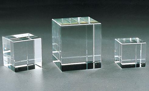 Blank Crystal Glass Block Cube