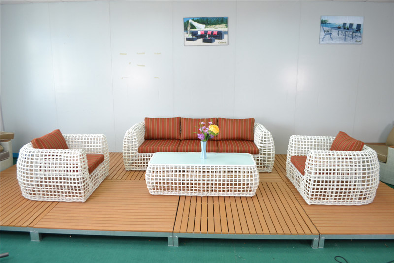 Luxury Big Round Wicker Indoor Outdoor Sofa Set