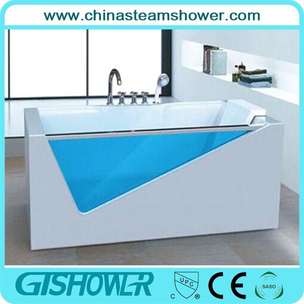 ABS Big Luxury Furniture Tempered Glass Bathtub (GT2012)