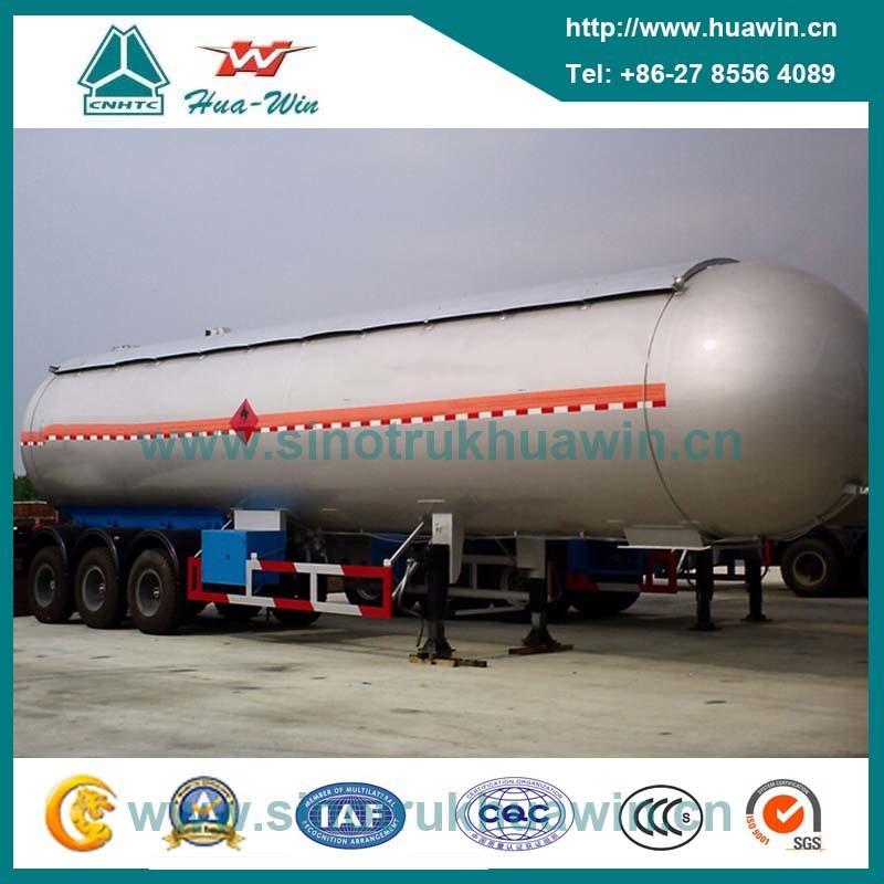 58.5cbm 3 Axle LPG Transport Semi Trailer