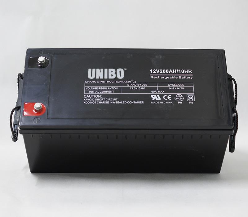 Solar System Long Life Deep Cycle AGM Lead Acid Battery UPS 12V200ah Solar Battery