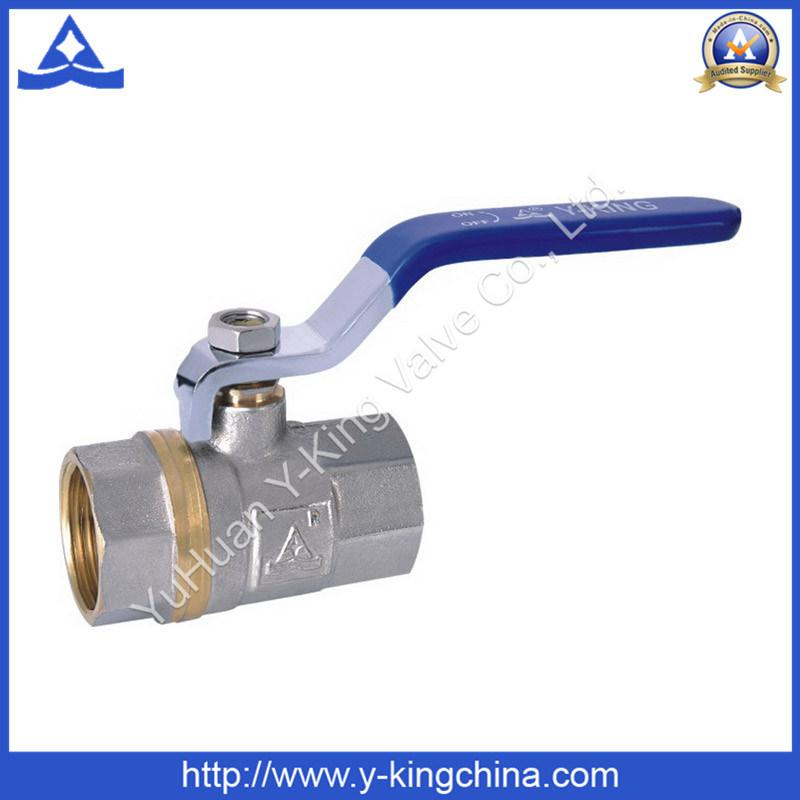 1/2-4 Nickel Plated Plumbing Brass Ball Control Valve (YD-1023)