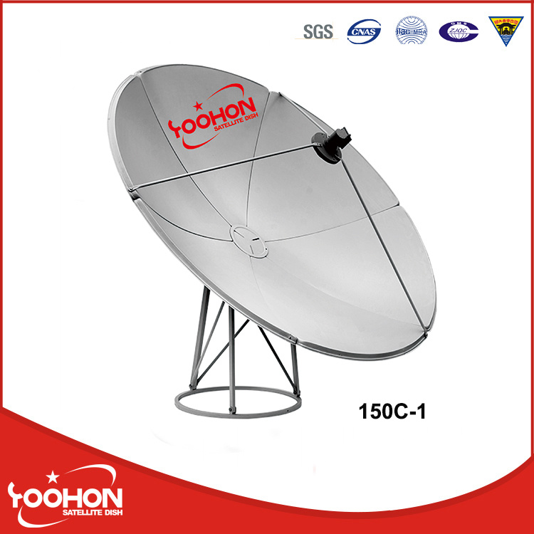 C Band 1.5m Satellite Dish Global TV Receiver