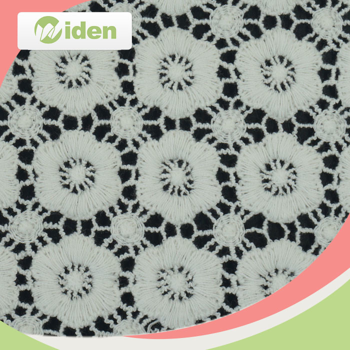 Flower Pattern African Guipure Lace Fabric