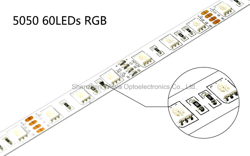 5050 Color Changing LED Strips, 60LEDs/M UL Listed