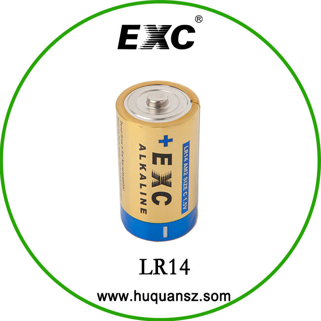 Hot Sale Dry Battery 1.5V Lr14 C Size Super Alkaline Batteries Dry Cell Battery
