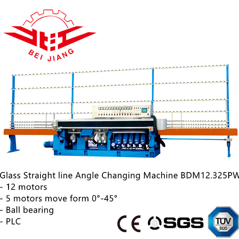 Glass Straight Line Angle Changing Machine with PLC Control and Ball Bearing (bdm12.325pw)