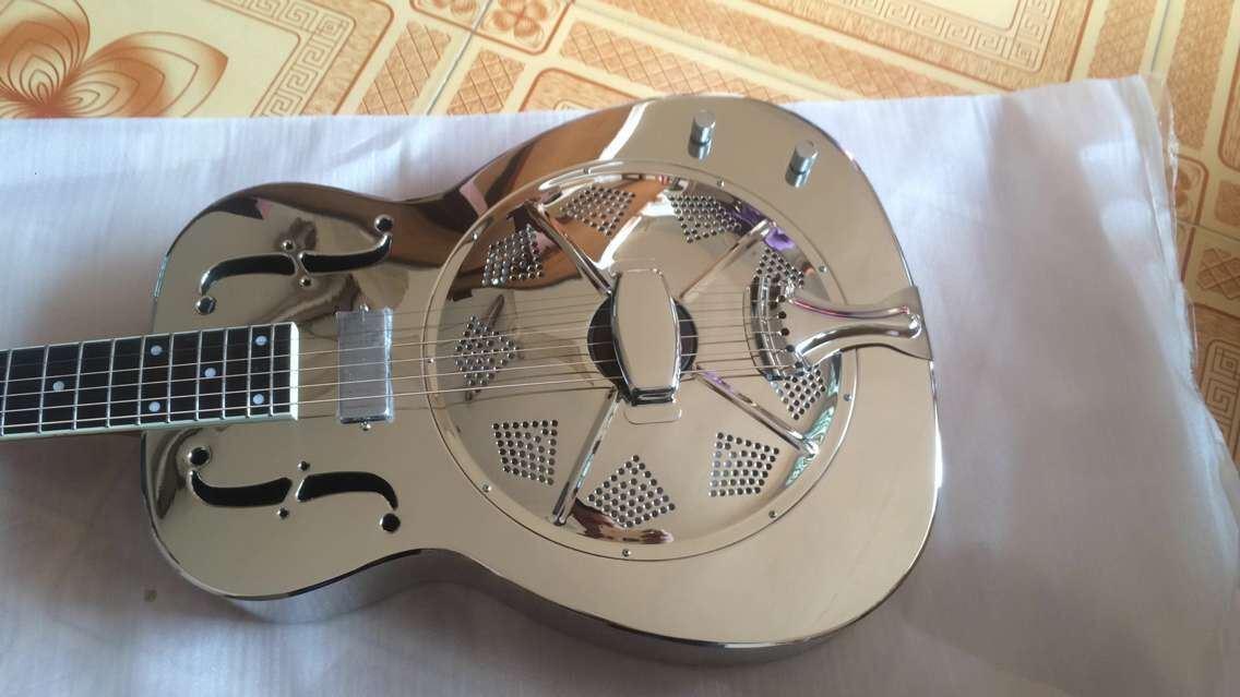 Wholesale Price Metal Body Electric Resonator Guitar