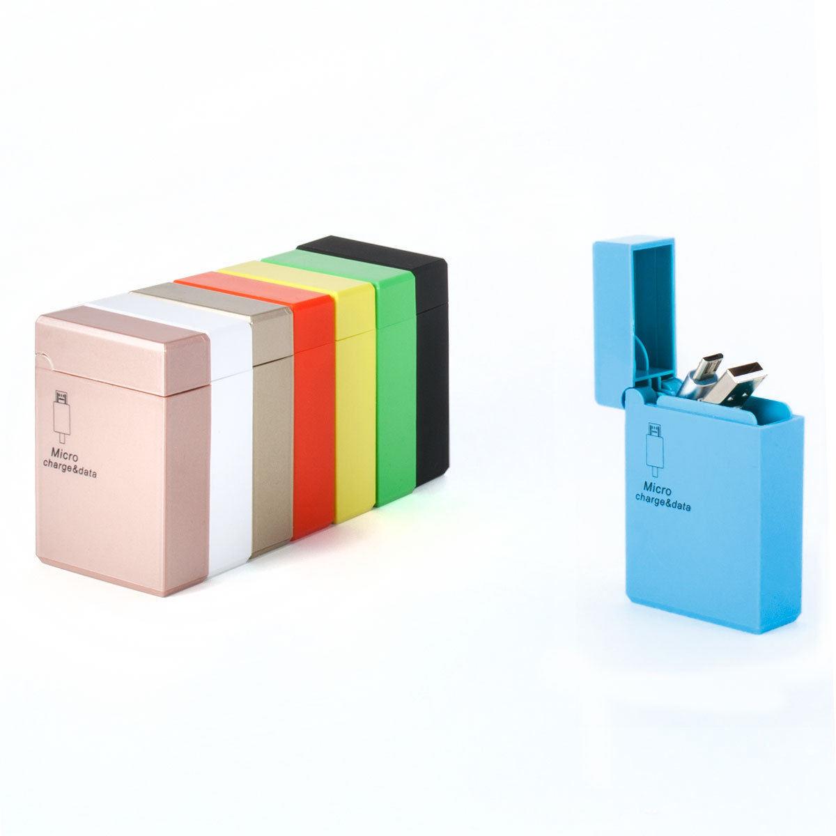Cigarette Lighter Style Retractable Micro USB Cable