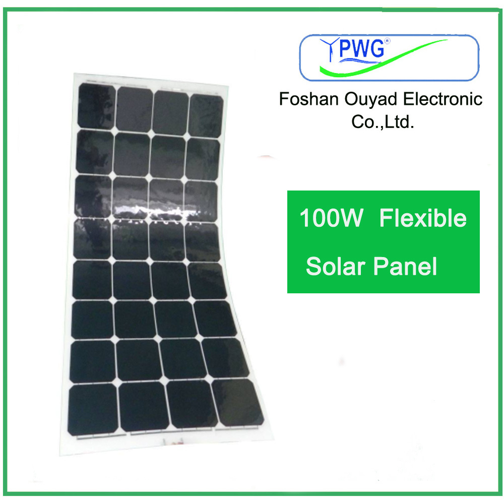 100W Semi Flexible Solar Panel/Solar Module with Sunpower Solar Cells
