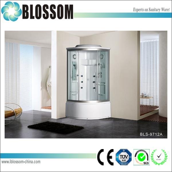 Clear Glass Steam Massage Complete Shower Room Shower Cabin (BLS-9712A)
