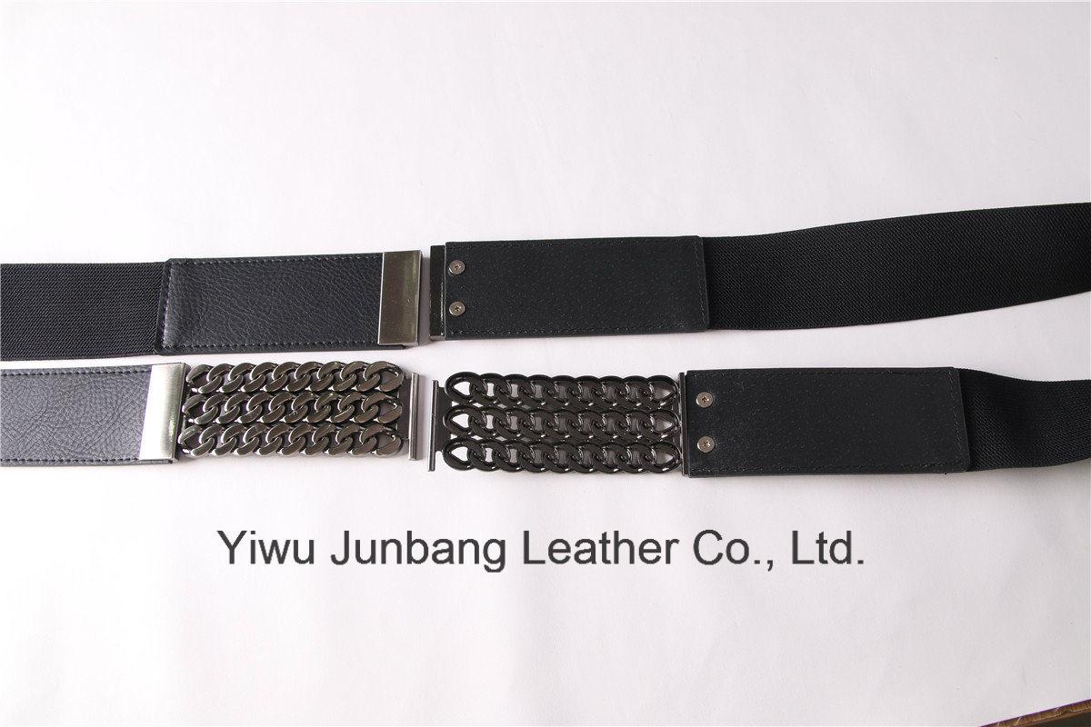 Women′s fashion Elastic PU Leather Belt--Jbe1636