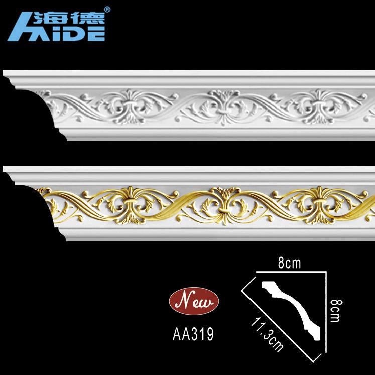 Top Rank PU Cornices PU Decorative Cornices PU Corner Moulding PU Moulding