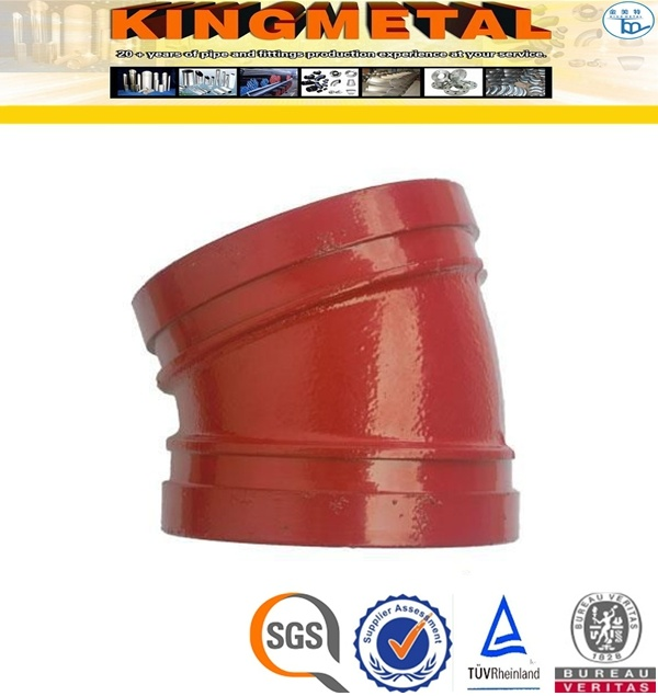 """2"""" Inch Ductile Iron 45 Degree Grooved Elbow"""