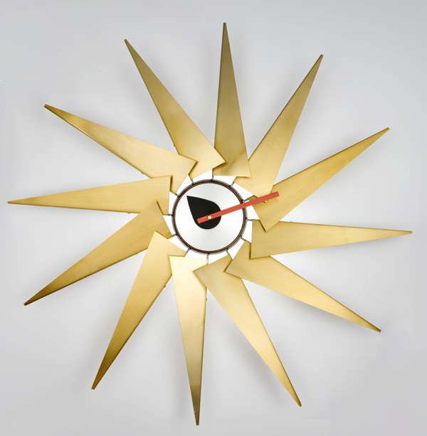 Copper Leaf Sunshine Art Wall Trubine Clock