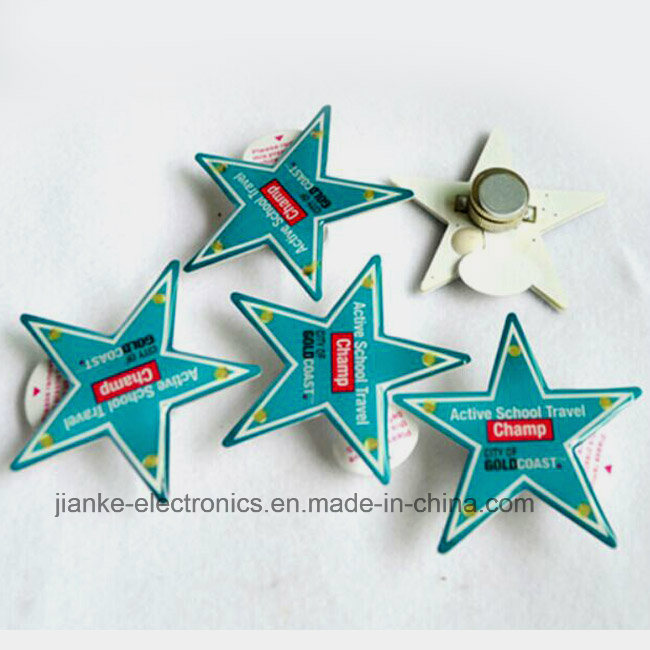 Promotional LED Flashing Star Magnet with Customized Design (3161)