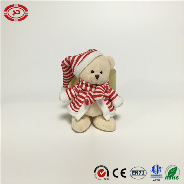 Xmas Snowman Bear Moose Dressed Soft Tiny Plush Gift Toy