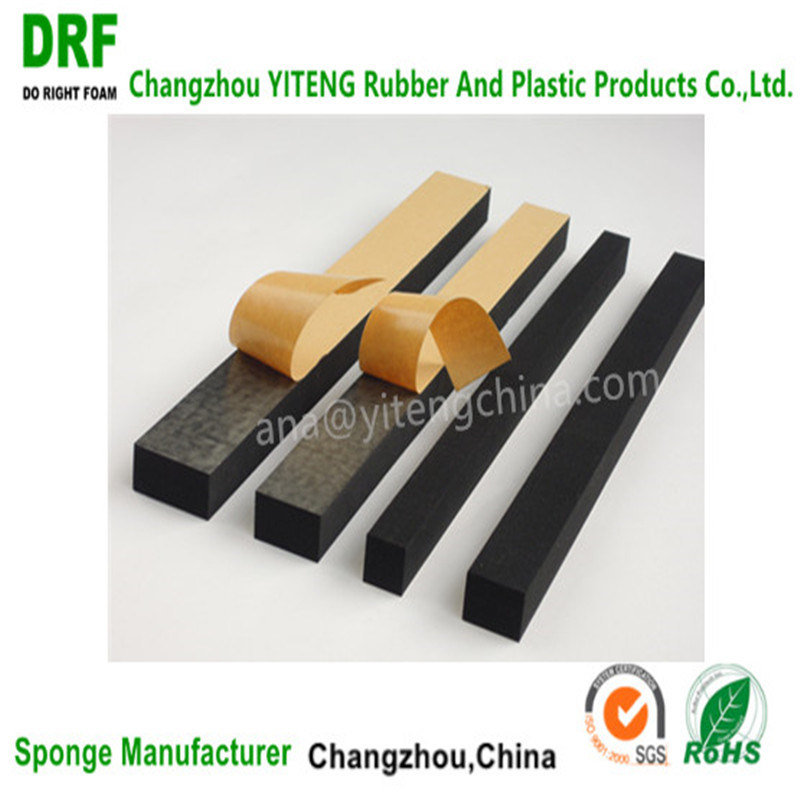 EVA/Cr/EPDM Foam Stripe, One Side Adhesive Foam Stripe