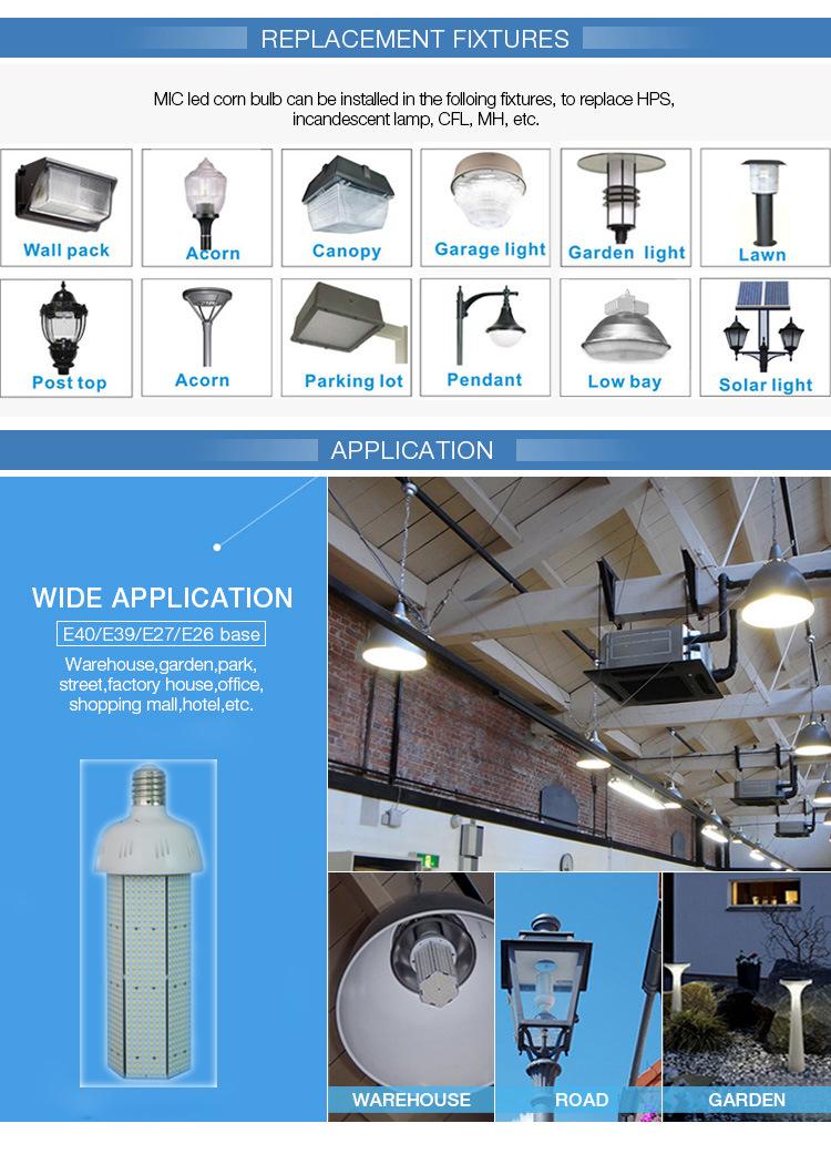 10W-120W 90V-277V LED Corn Bulb