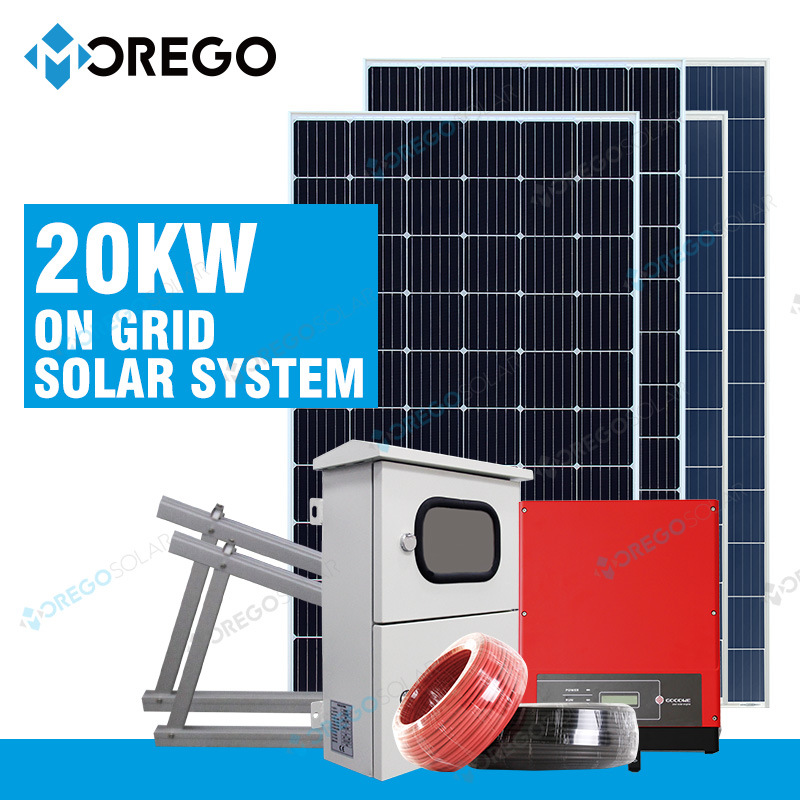 Morege on Grid 2kw-10kw-30kw PV Solar Power System