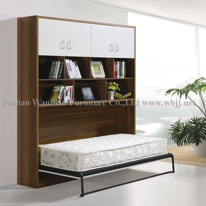 Side Fold Wall Bed With Cabinet On The Top China Wall