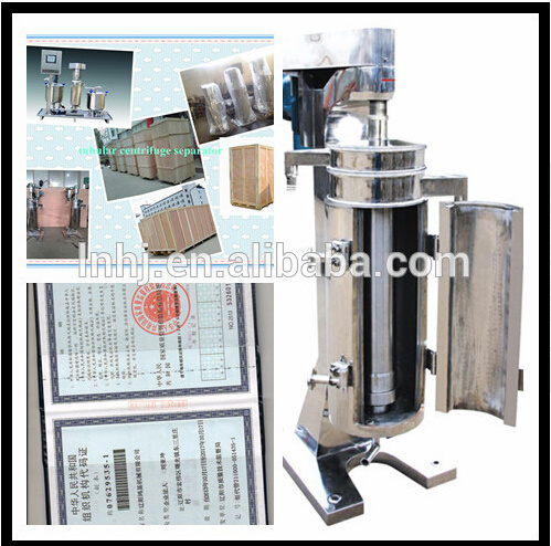 GF Separation Type Virgin Coconut Oil Tubular Centrifuge