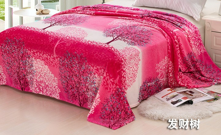 Super Soft Printed Flannel Blanket Sr-B170223-8 Printed Coral Fleece Blanket