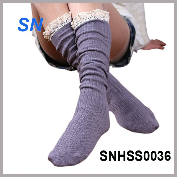 2015 Hot Sell Latest Fashion Lace Boot Socks