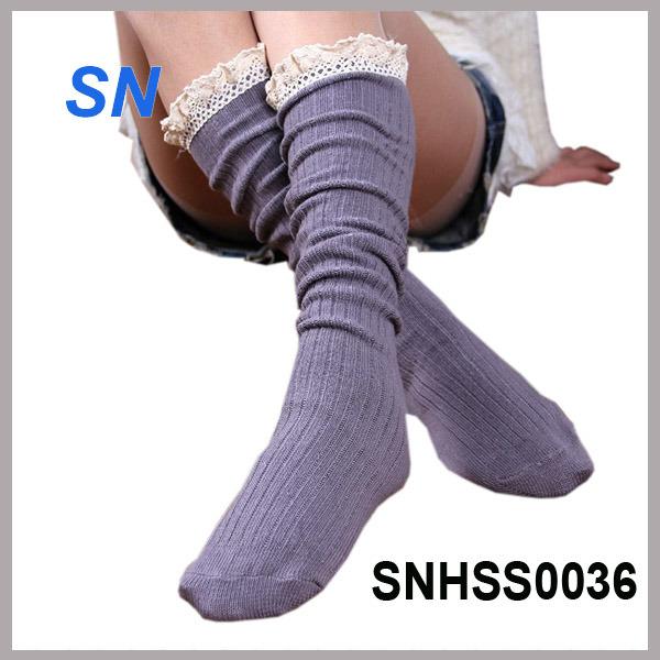2015 Hot Sell Latest Fashion Lace Boot Socks