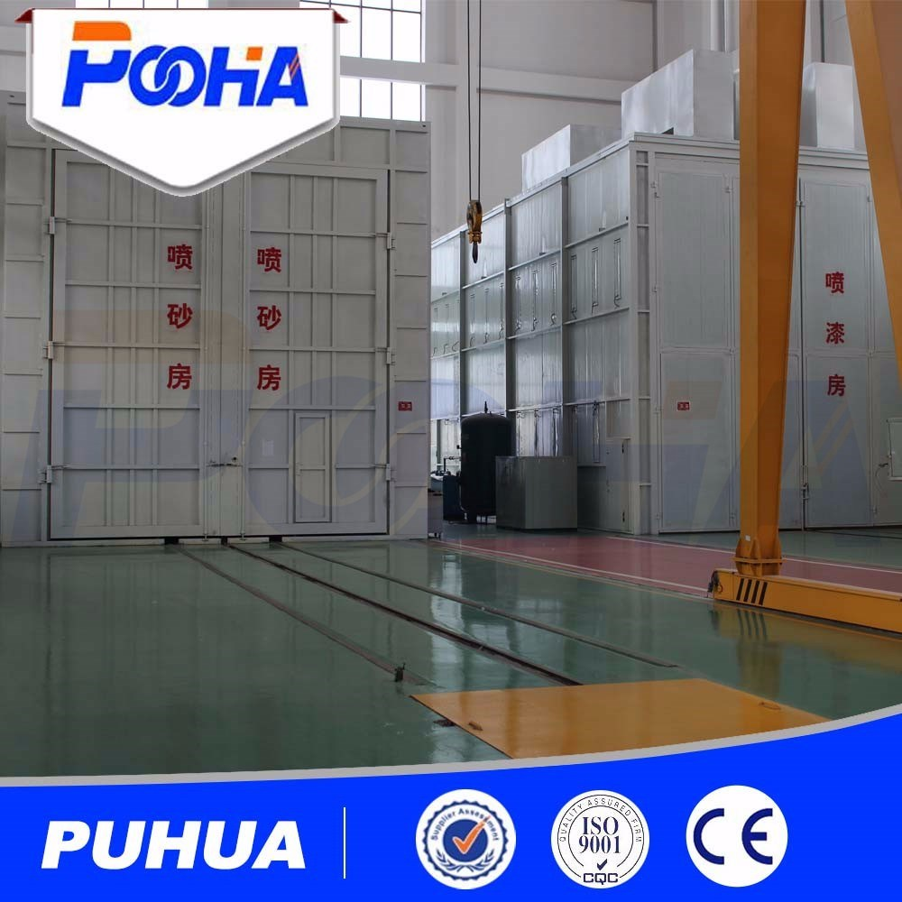 Industrial Sand Blasting Room with Automatic Mechanical Recovery System