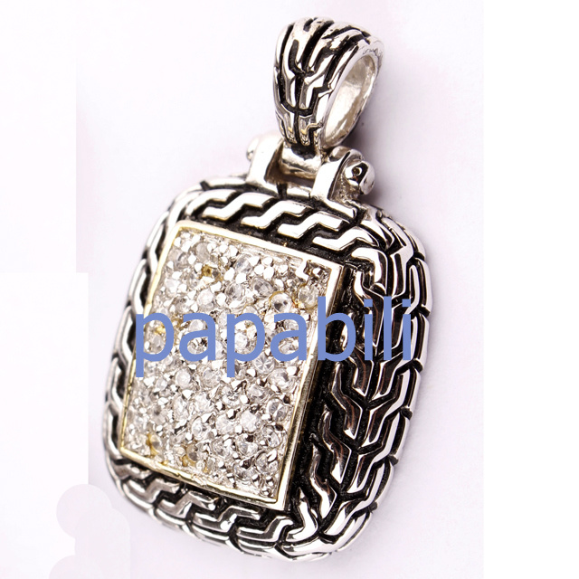 Metal Silver Diamond Jewelry Pendant