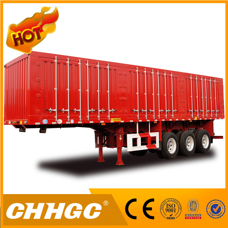 Chhgc 3 Axles Van Type Coal Carrying Semi Trailer