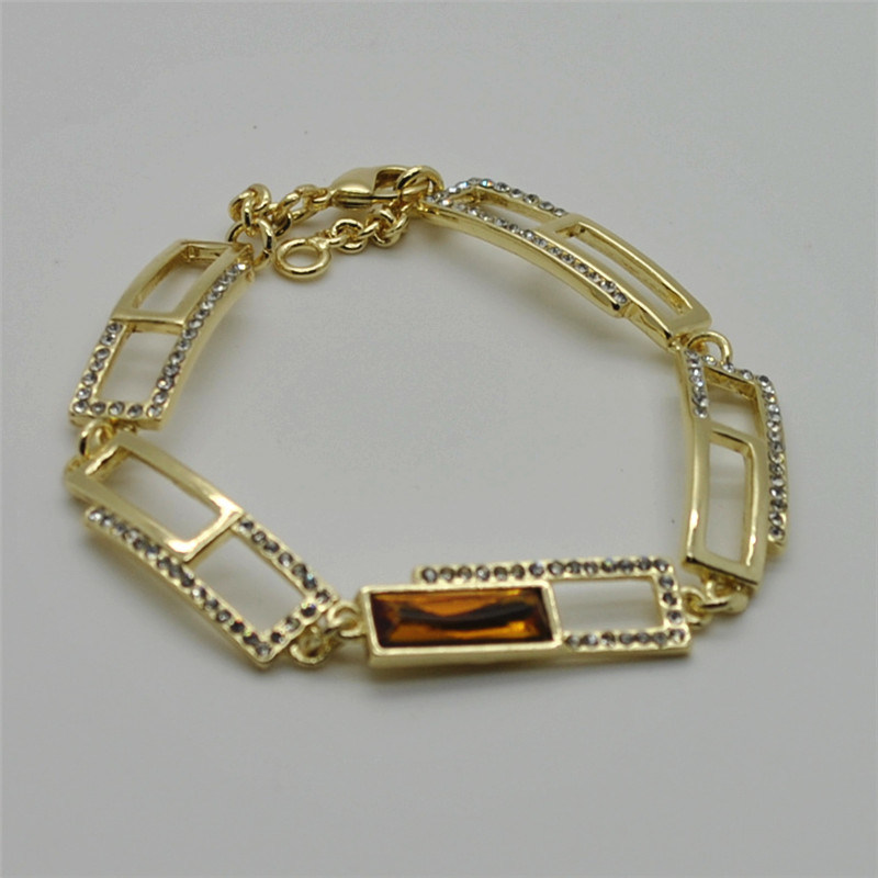Best Fashion Cross Gold Plated Elastic Stretch Women Crystal