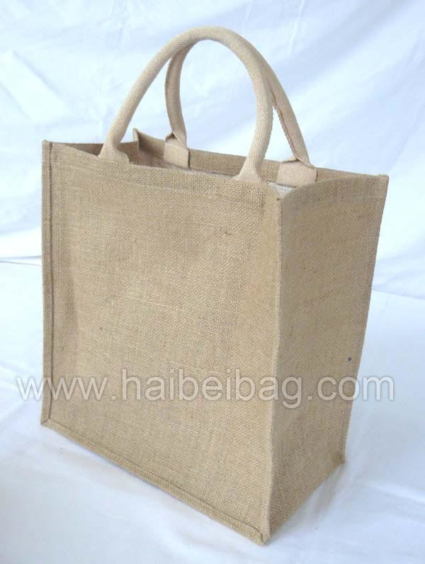 Jute Handbag Jute Tote Bag Jute Shopping Bag Jute Bag (HBJU-043)