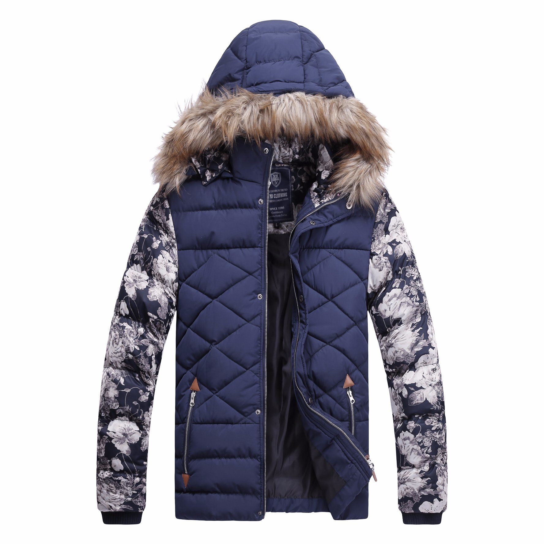 Mens Fashion Winter Hooded High Quality Padding Jacket