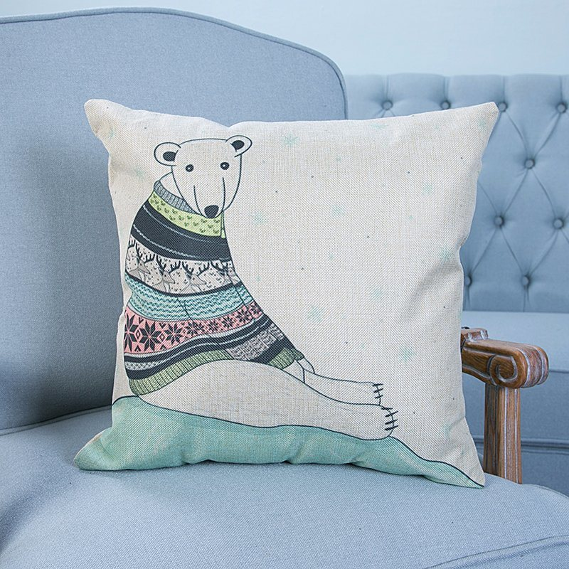 Digital Print Decorative Cushion/Pillow with Cat&Dog Pattern (MX-12)