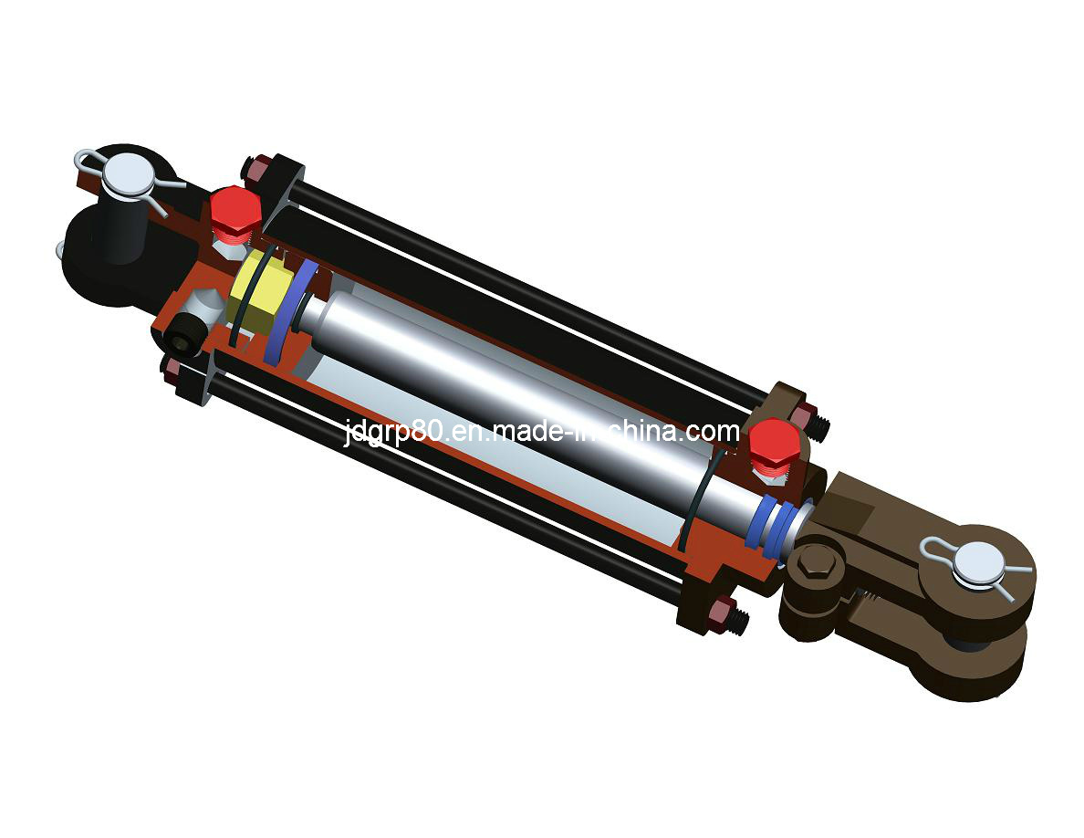 2500 Psi Double Acting Tie Rod Hydraulic Cylinder