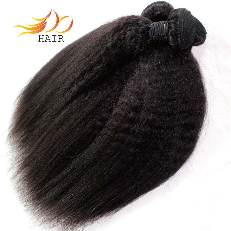 8A Top Quality Brazilian Virgin Hair Kinky Straight Hair Extension