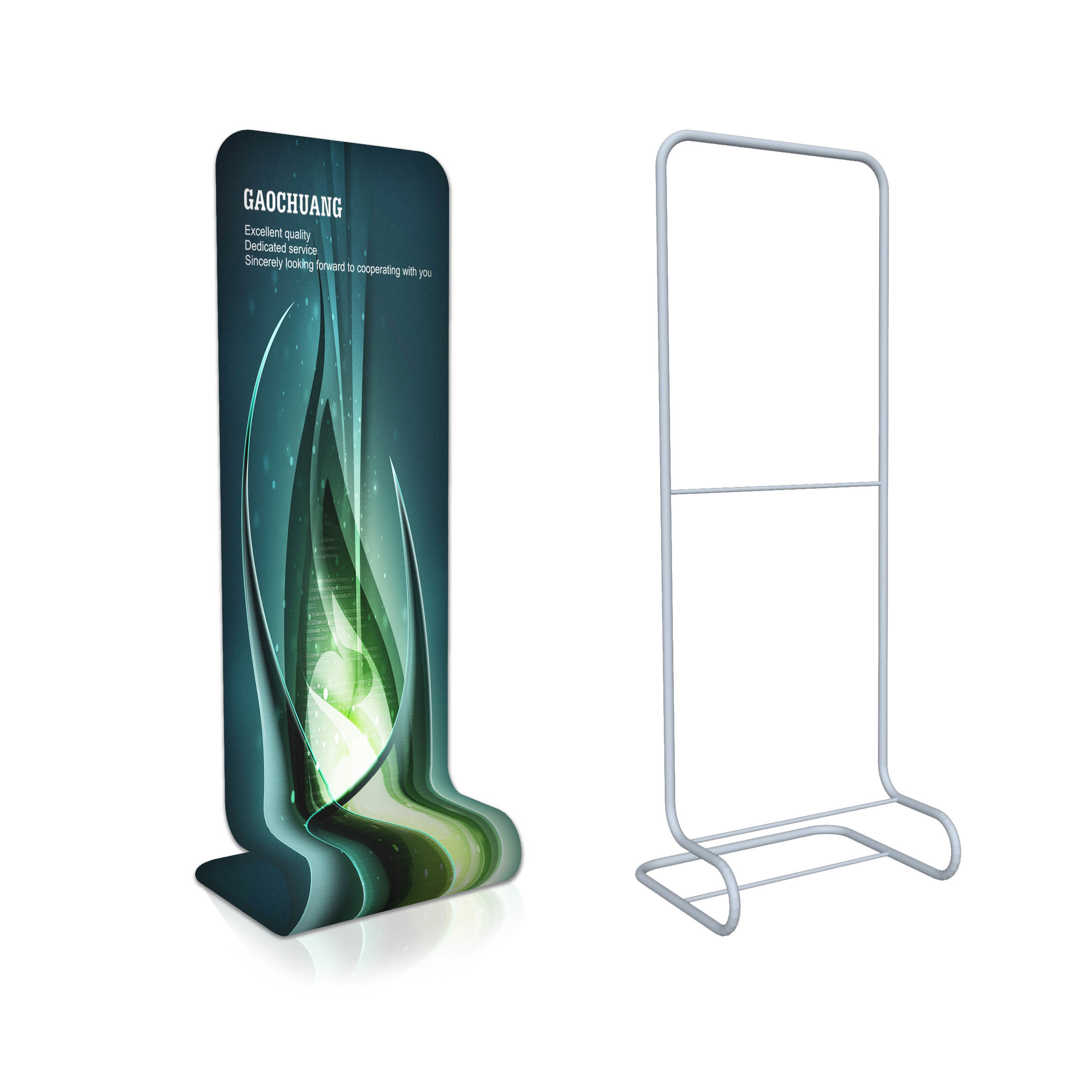 Exhibition Booth En Francais : China promotional snake shape fabric display banner stand