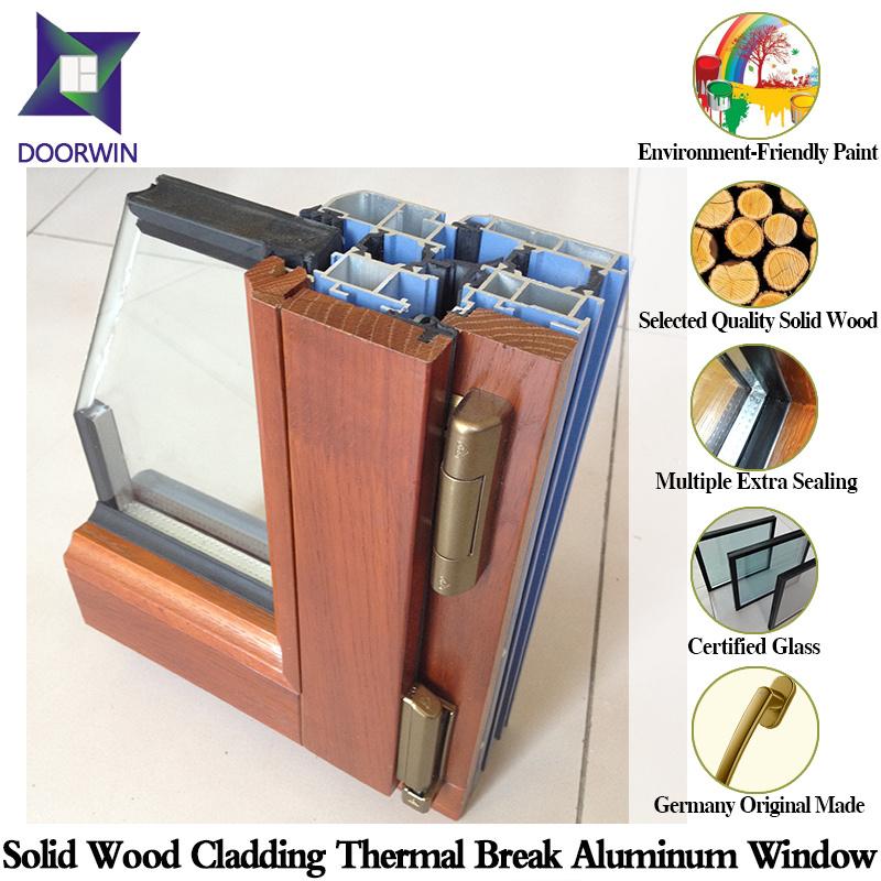 Be-Spoken European Style Solid Wood Metal Window, Thermal Break Aluminum Window Powder Coating Techniques