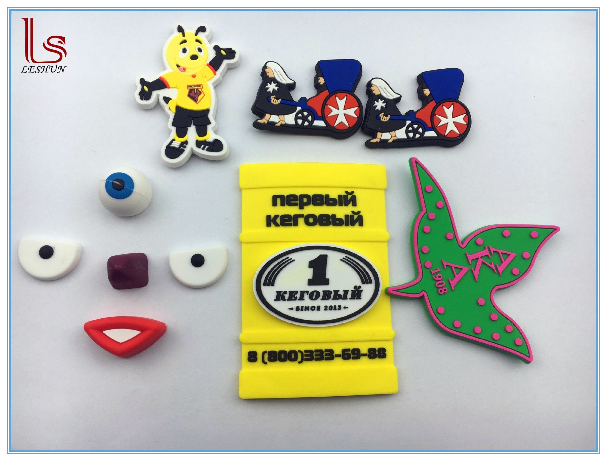 Souvenir Custom Made Silicone Rubber 2D 3D Fridge Magnet