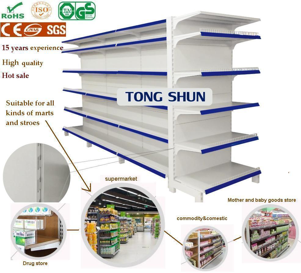 Supermarket Furniture Gondola Display Steel Shelf/Shelving