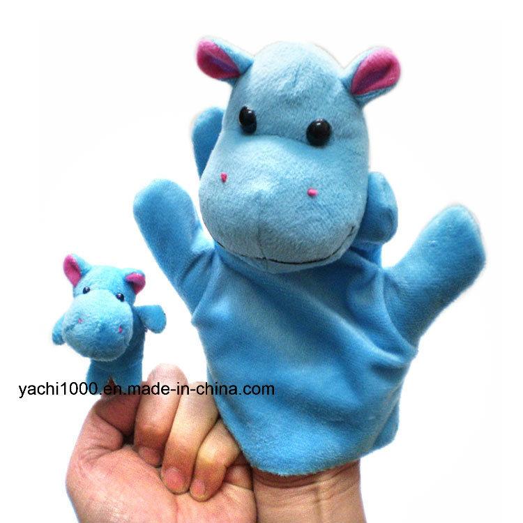 Christmas Gift Animal Shaped Hand and Finger Stuffed Puppet Plush