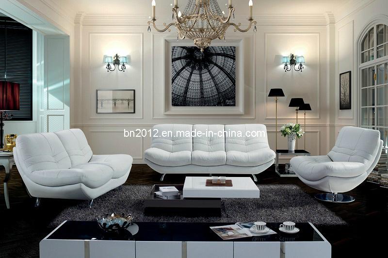Living Room Genuine Leather Sofa (SBL-9034)