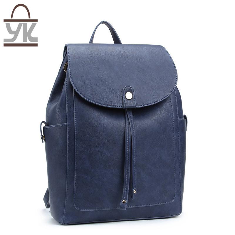 2017 New Style Fashion PU Leather Unisex Backpack