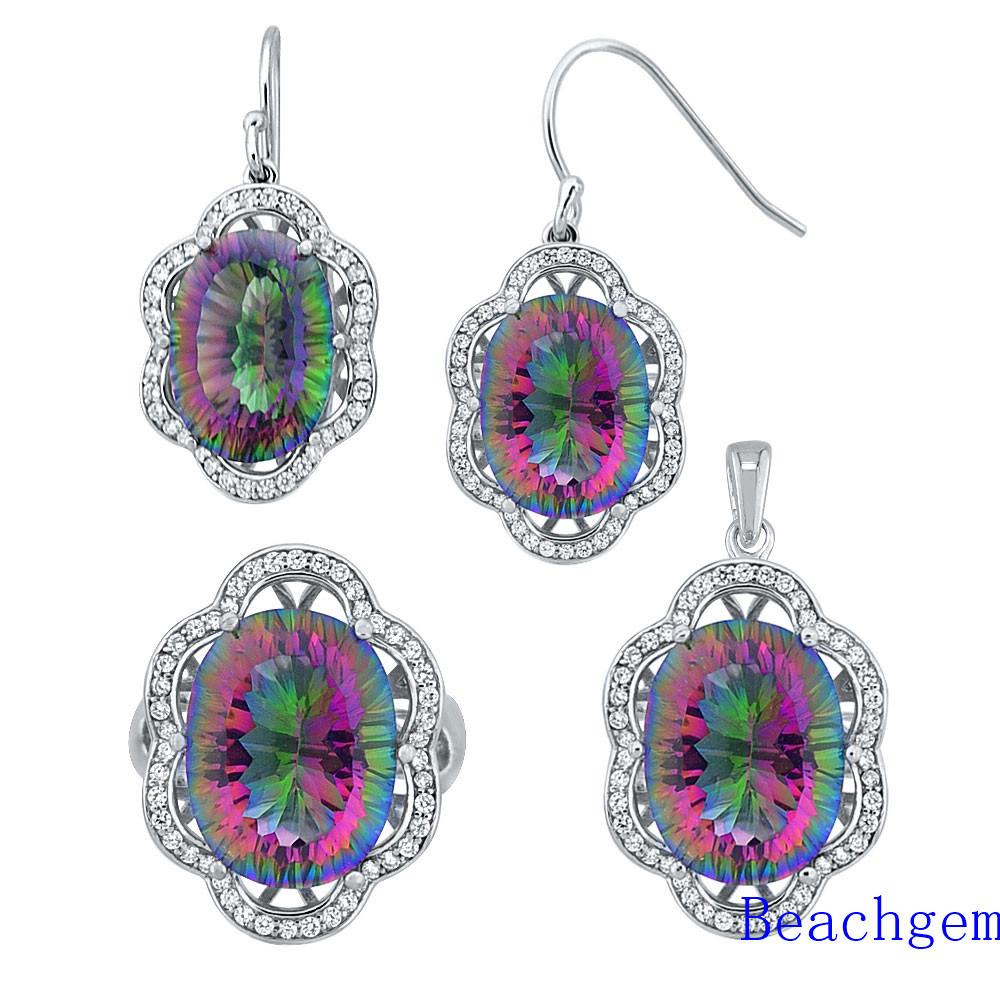 Fashion Mystic Quartz Jewellery Set (S1368)